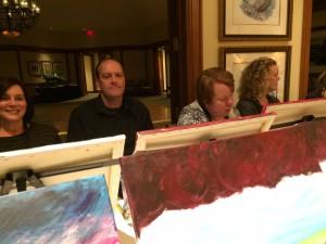 Painting crew, celebrating a birthday!